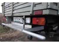 Задняя защита-ограничитель УАЗ-ПРОФИ с алюм.площадкой