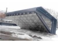 Защита рулевых тяг с площадкой под лебедку и с алюминиевой накладкой