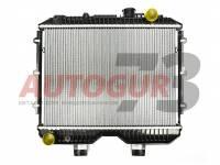 Радиатор охлаждения УАЗ 2-х рядный алюминиевый
