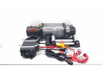 Лебедка электрическая 12V Electric Winch 12000lbs / 5443 кг (блок+механизм IP66) со стальным тросом